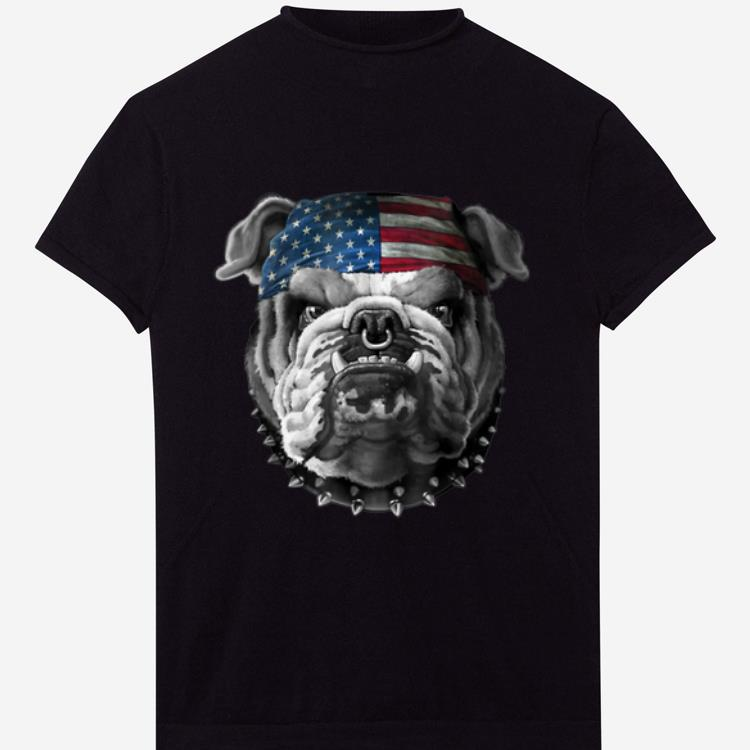 American Bulldog American Flag shirt