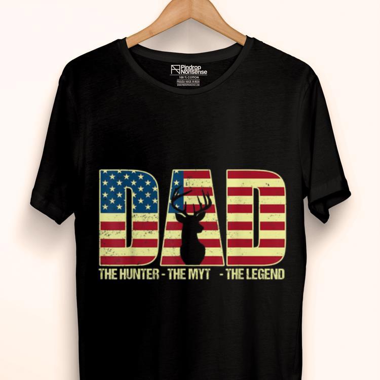 American Flag Deer Hunter Dad Myth Legend Father's Day shirt