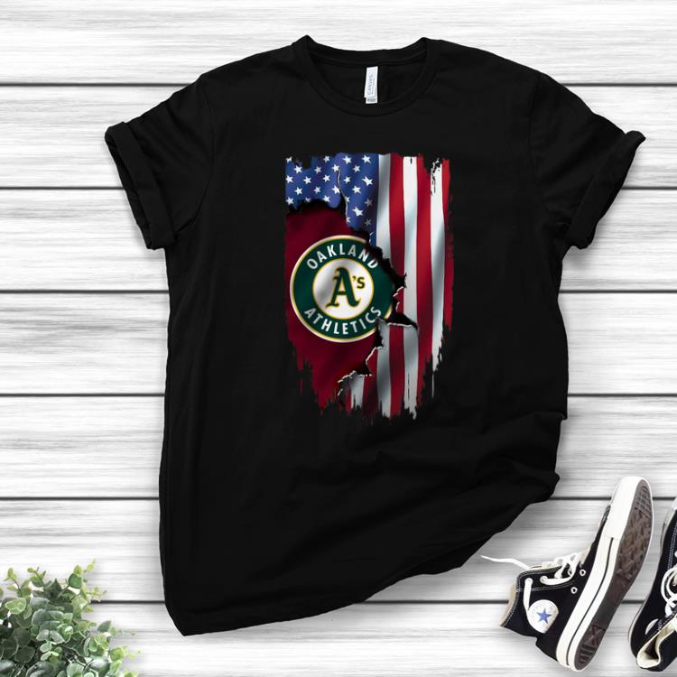 American Flag Oakland Athletics Mashup MLB