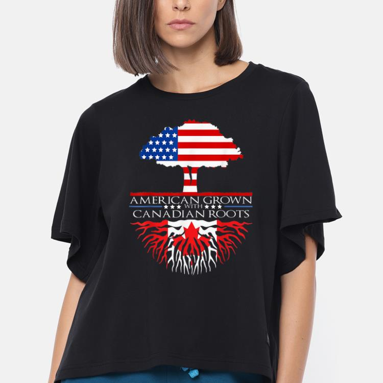 American Grown With Canadian Roots Us Canada Flag Tree Shirt 3 1.jpg