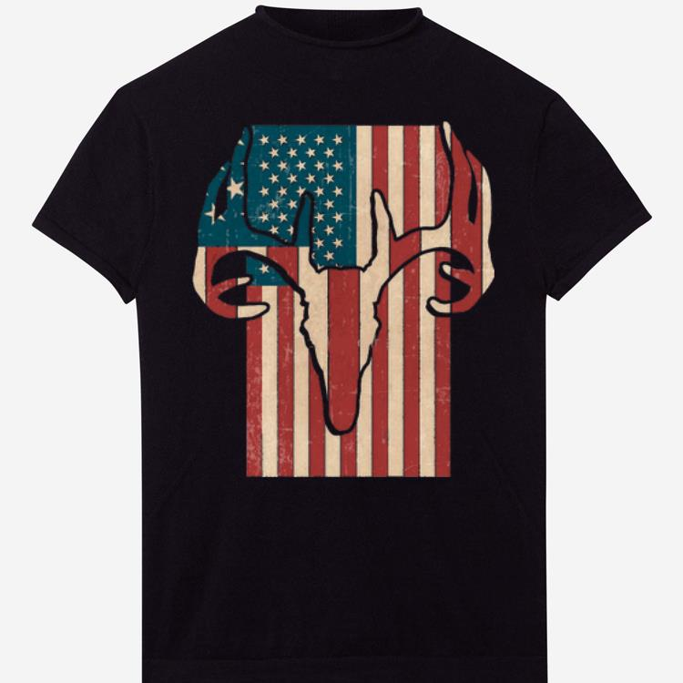 American Hunting Deer Flag shirt