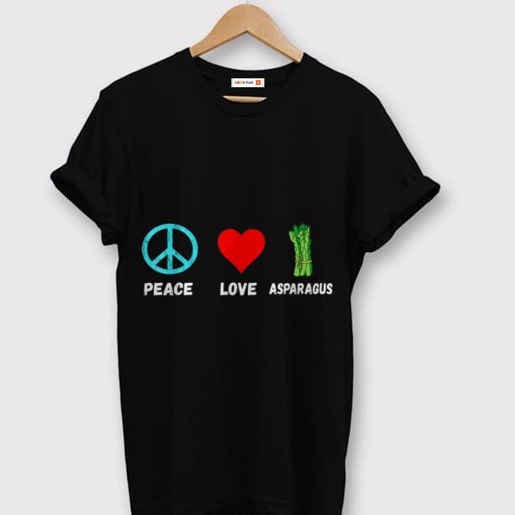 Asparagus Peace Love Plant Based Diet Green Vegetables shirt