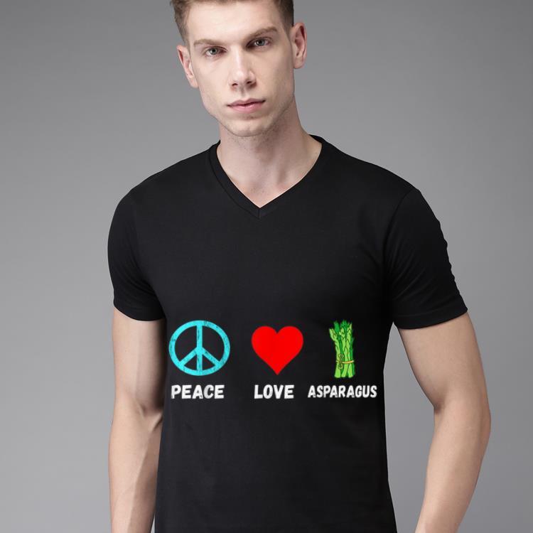Asparagus Peace Love Plant Based Diet Green Vegetables Shirt 2 1 1.jpg
