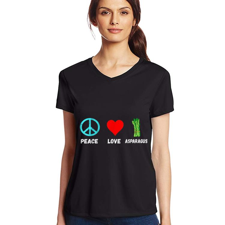 Asparagus Peace Love Plant Based Diet Green Vegetables Shirt 3 1 1.jpg