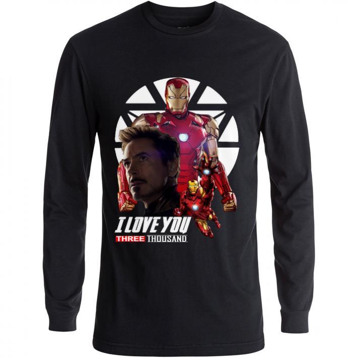 Awesome Iron Man I love you three thousand Endgame shirt