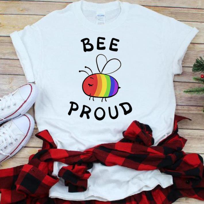Bee Proud Pocket Pride LGBT Rainbow sjirt