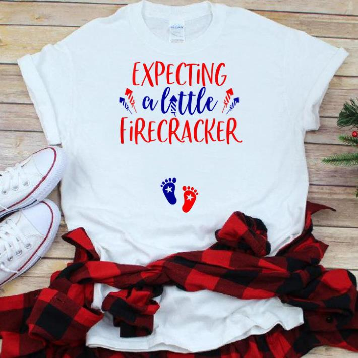 Best Price Expecting A Little Firecracker Firework Baby Foot 4th Of July Independence Day Shirt 1 1.jpg