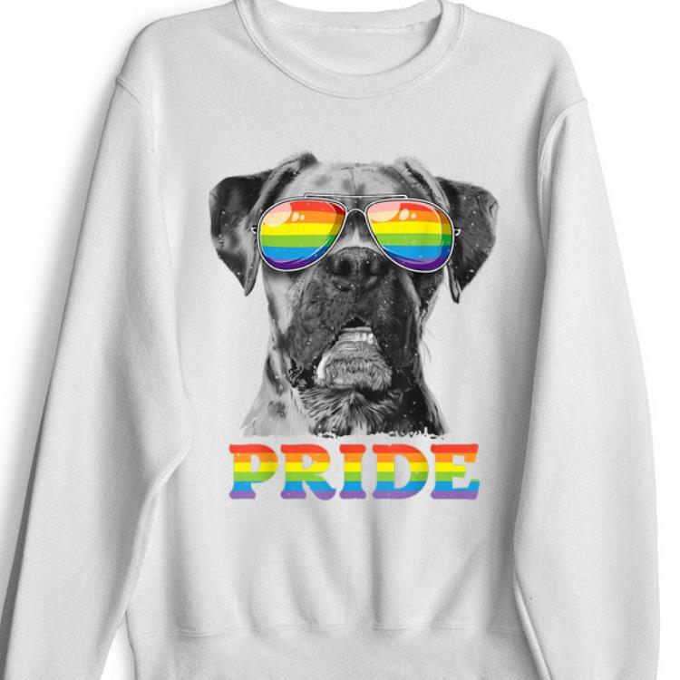Boxer Gay Pride Lgbt Rainbow Flag Sunglasses Funny Lgbtq shirt