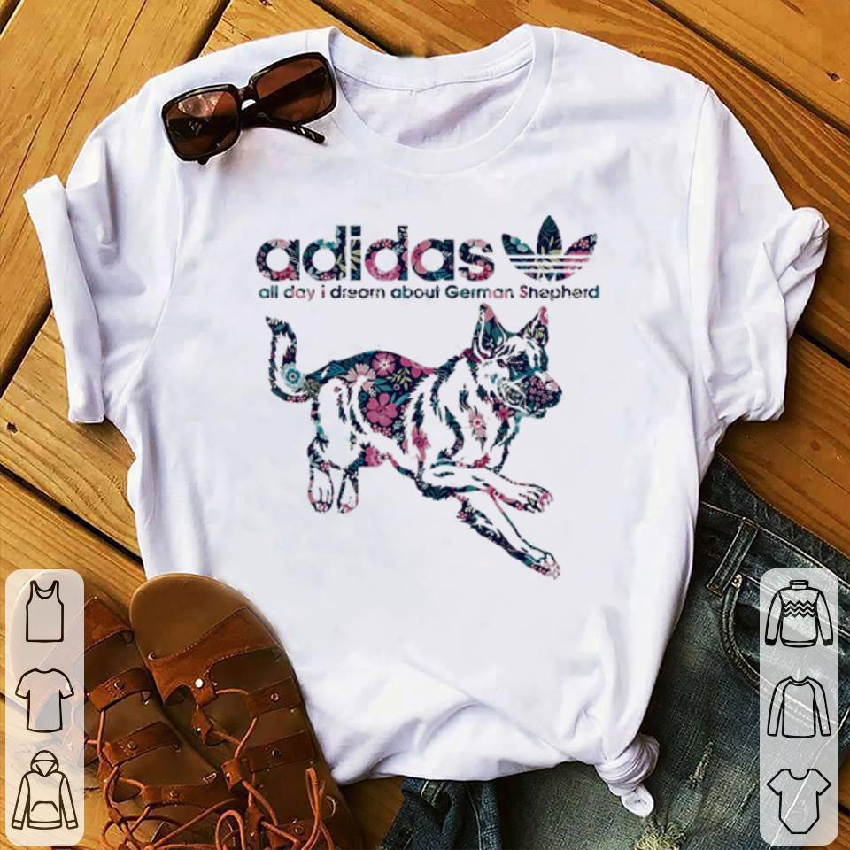 Funny Adidas All Day I Dream About German Shepherd Shirt 1 1.jpg
