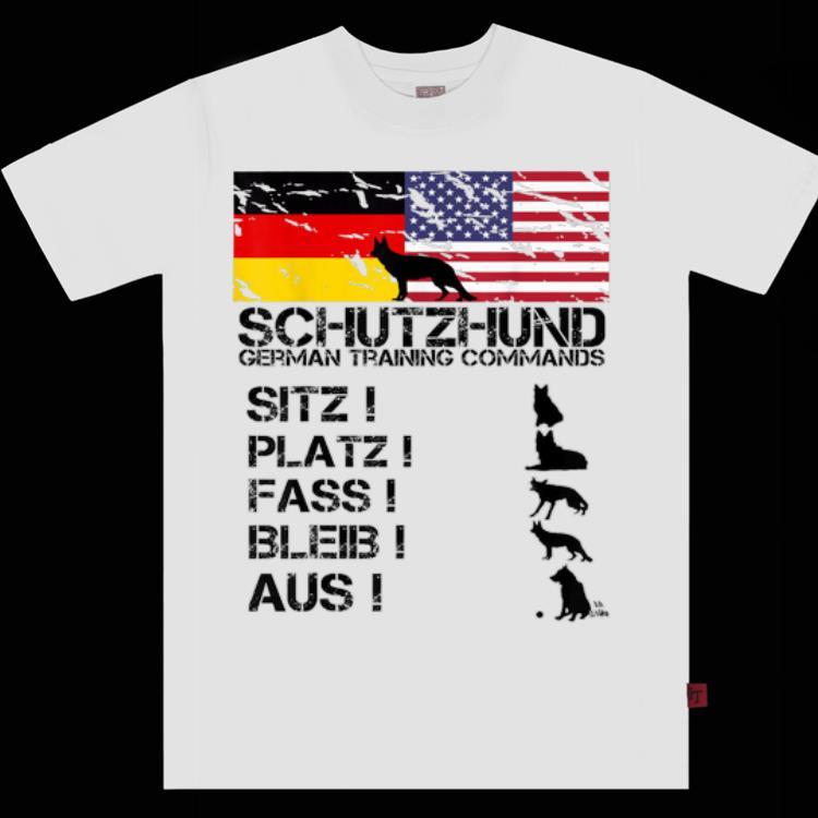 German Shepherd American Flag Tee German Flag shirt