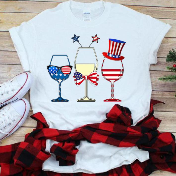 Happy Independence Day Drinking Wine American Flag Shirt 1 1.jpg