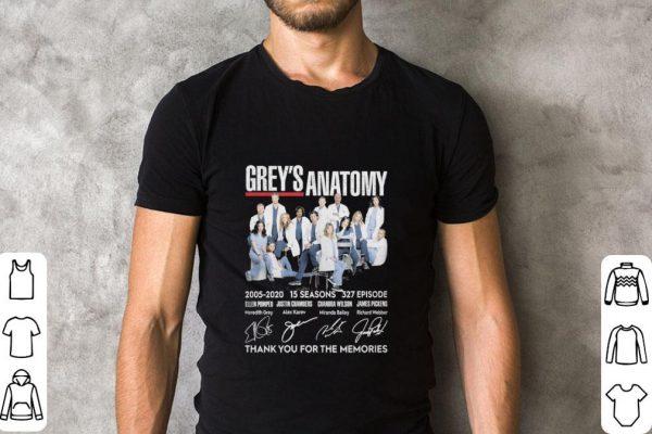 Hot Grey S Anatomy 15 Seasons 327 Episode Thank You For Memories Shirt 2 1.jpg