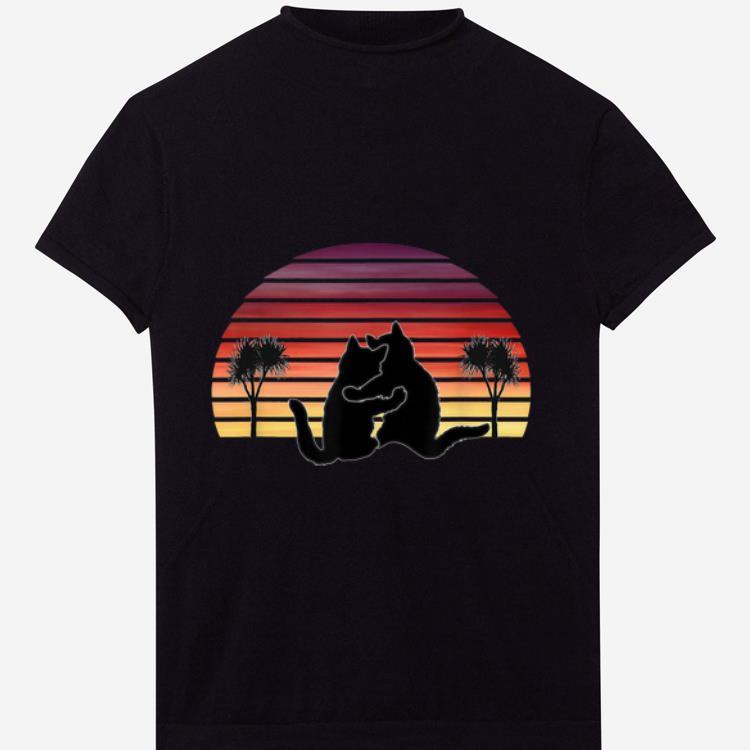 Hot Vintage Cat Hug Sunset Palm Trees Shirt 1 1.jpg