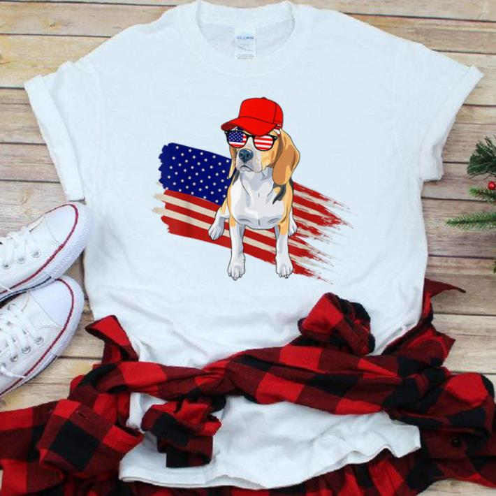 Nice Beagle American Flag Usa Patriotic 4th Of July Gifts Shirt
