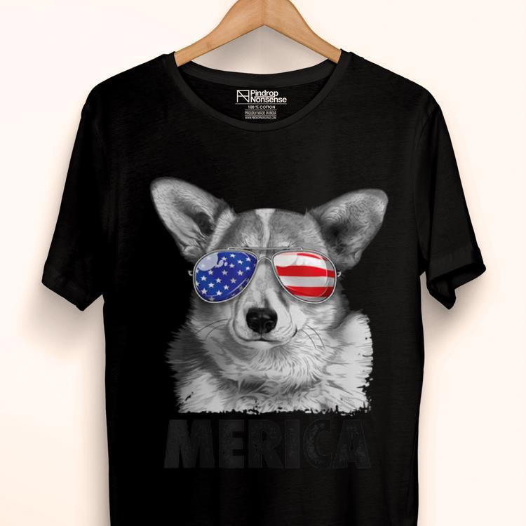 Original Corgi 4th Of July Merica Women Usa American Flag Shirt