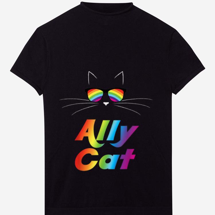 Premium Ally Cat Rainbow Sunglasses Gay Pride Kitty Shirt 1 1.jpg
