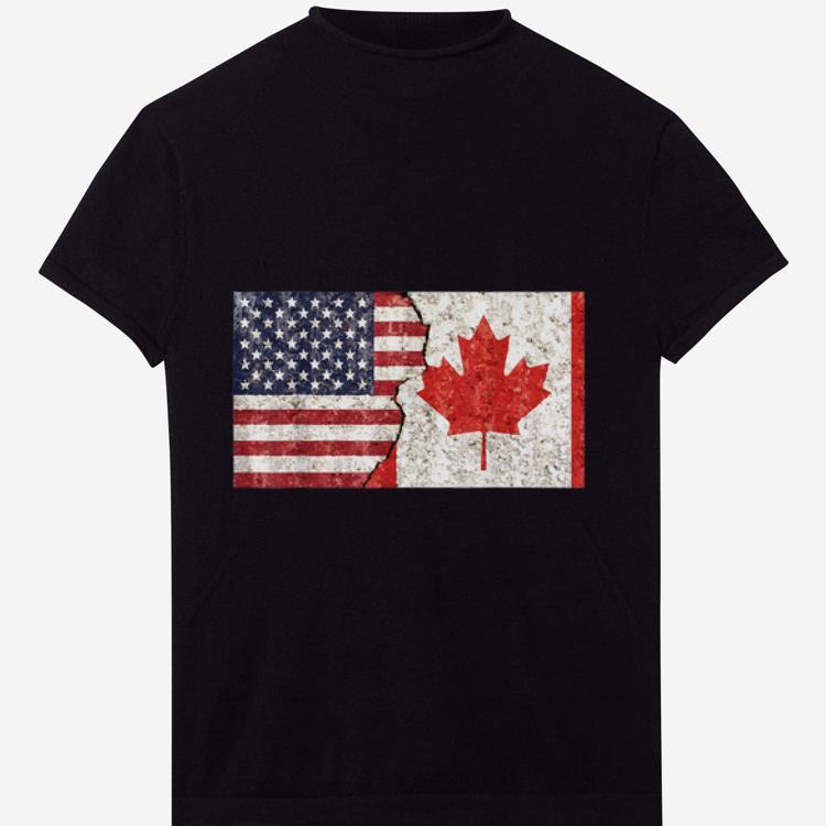 Premium Canadian American Canadian American Flag shirt