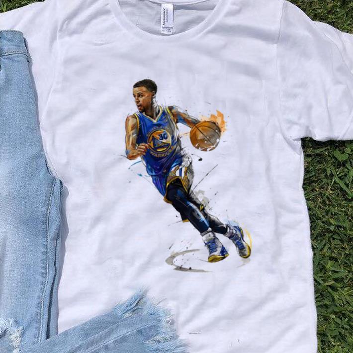 more photos 5528b 0fbbc Premium Stephen Curry Golden State Warriors Basketball Art Shirt