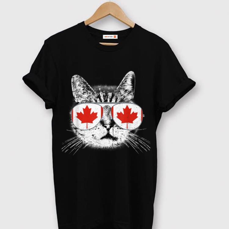 Pretty Canada Flag Canadian Cat Sunglasses Men Shirt 1 1.jpg