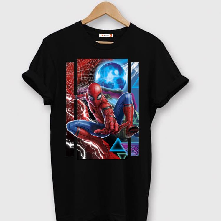 Pretty Marvel Spider Man Far From Home Mysterio And Spidey Portrait Premium Shirt 1 1.jpg