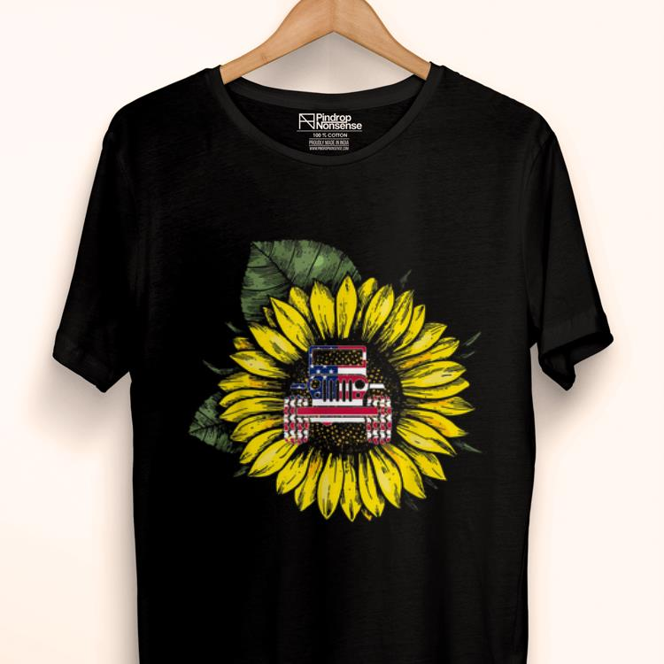 Pretty Sunflower Jeeps American Flag 4th Of July Driving Jeeps Shirt 1 1 1.jpg
