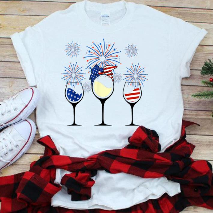 Red White Blue Wine Glasses Firework 4th Of July Sjirt 1 1.jpg