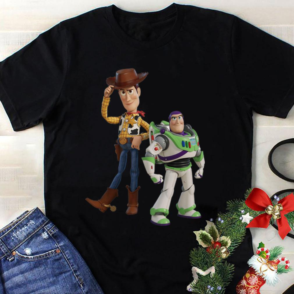 Top Disney Pixar Toy Story 4 Woody and Buzz Lightyear shirt