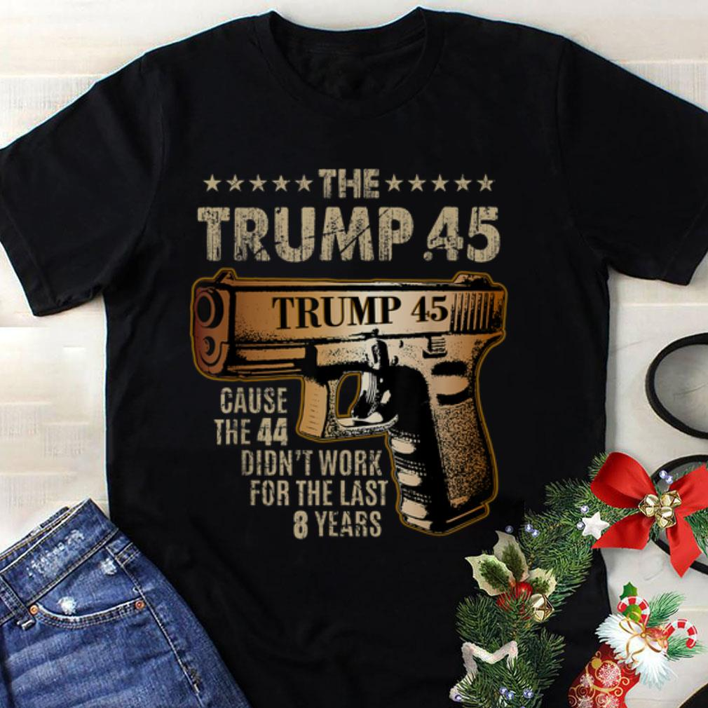 Top Trump 45 Greater Than 44 Gun Rights 2nd Amendment shirt