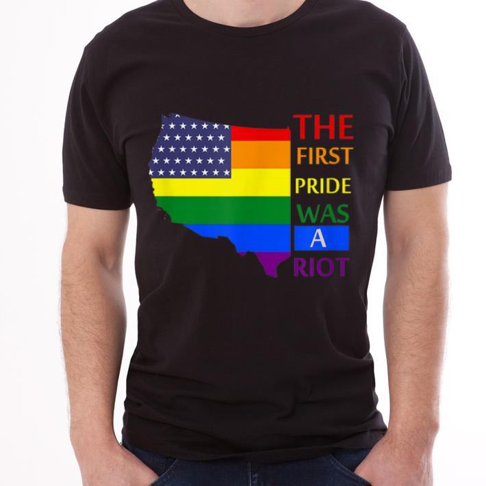 Topthe First Pride Was A Riot Parade Gay Usa Flag 2019 Shirt 3 1.jpg