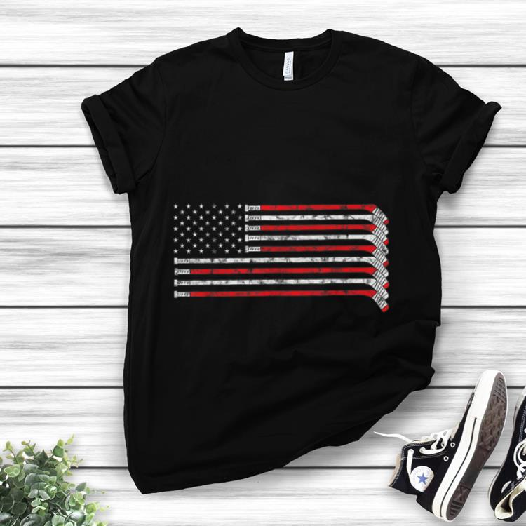 Awesome American Flag Hockey Bat For NHL Fan shirt