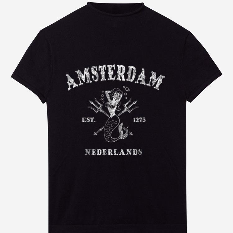Awesome Amsterdam Nederlands Vintage Mermaid Nautical shirt