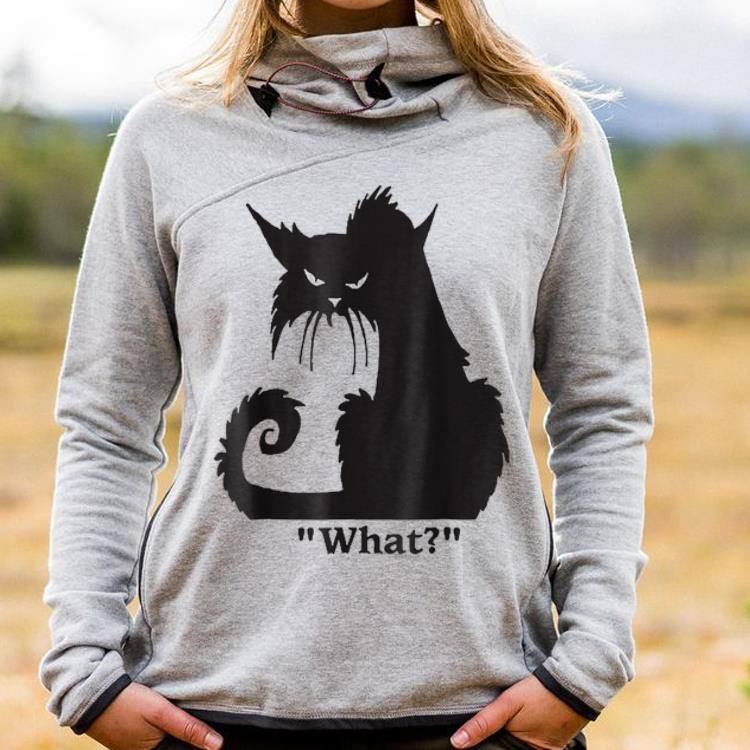 Awesome Angry Black Cat What shirt
