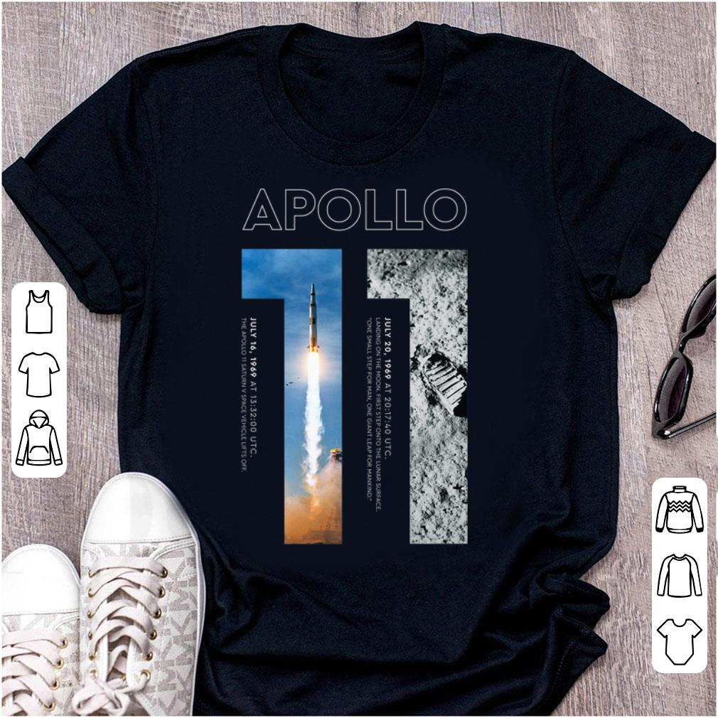 Awesome Apollo 11 50th Anniversary Moon Landing 1969 2019 Premium Landed On The Moon shirt
