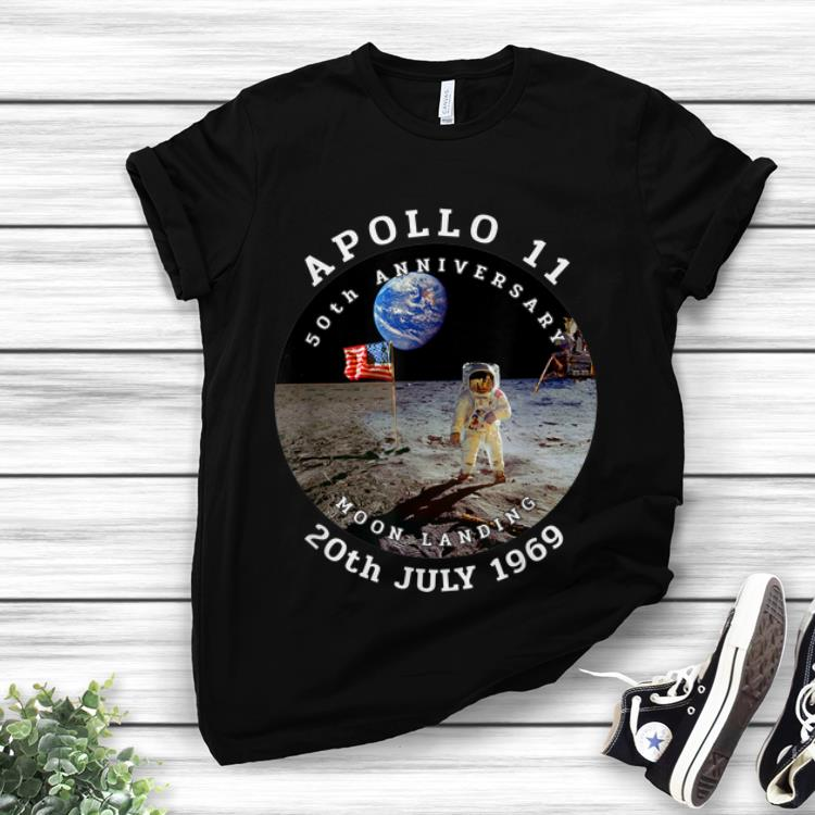Awesome Astronaut Apollo 11 50th Anniversary Moon Landing American Flag 20th July 1969 shirt