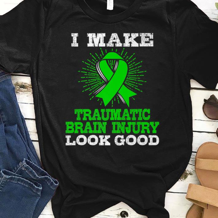 Awesome I Make Traumatic Brain Injury Look Good Cancer Awareness shirt