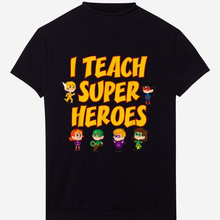 Awesome I Teach Superheroes Chibi Supperheroes Teacher Appreciation Day Shirt 1 1.jpg