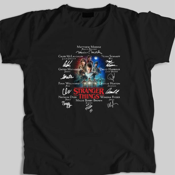 Awesome Millie Bobby Brown Eleven Stranger Things Signatures Shirt 1 1.jpg