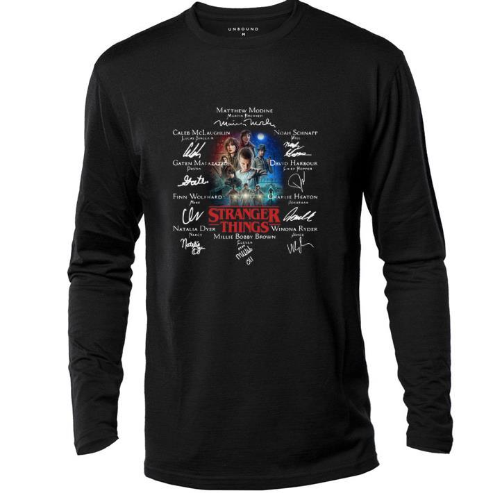Awesome Millie Bobby Brown Eleven Stranger Things Signatures shirt