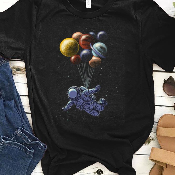 Awesome Space Travel Tri Blend Astronaut Fly By Planet Balloons Shirt 1 1.jpg