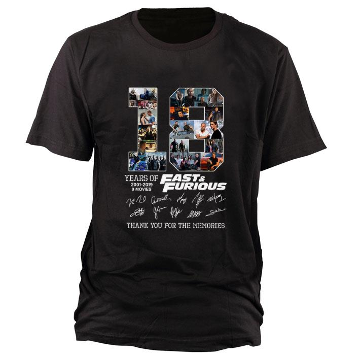 Hot 18 Years Of Fast Furious Signatures Thank You For The Memories Shirt 1 1.jpg