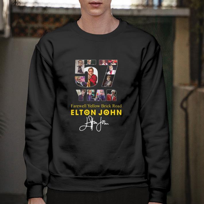 Hot 57 Years Farewell Yellow Brick Road Elton John signature shirt