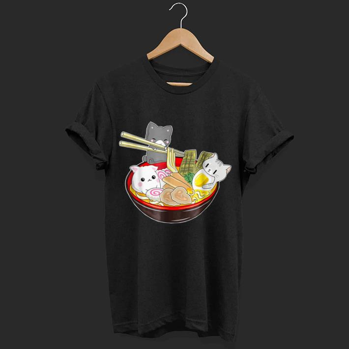 Hot Great Kawaii Japanese Anime Cat Noodle Bowl Noodle Pool Party Shirt 1 1.jpg