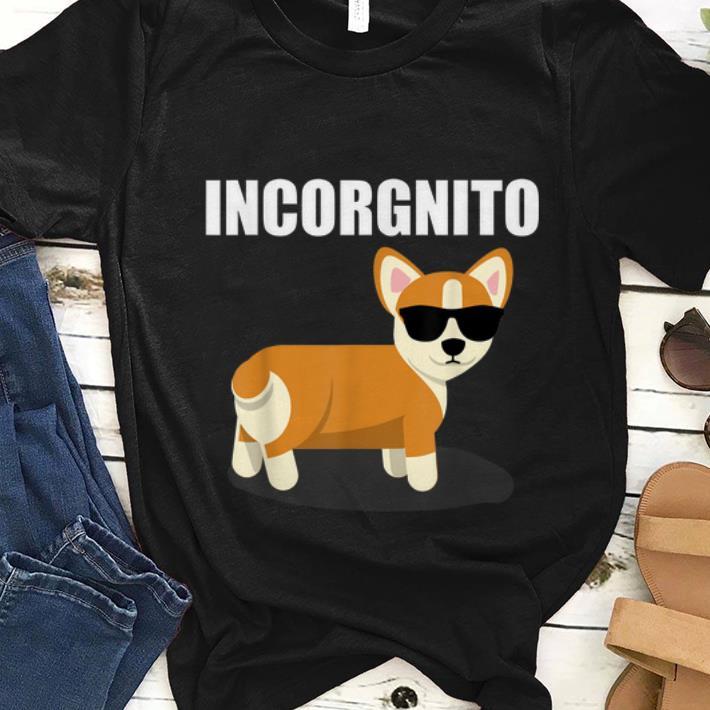 Hot Incorgnito Corgi Dog With Sunglass shirt
