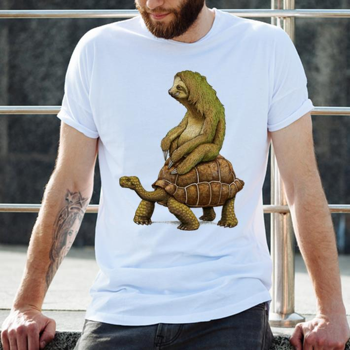 Hot Speed Is Relative Sloth And Turtle Moving Slowly Shirt 1 1.jpg