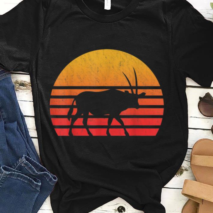 Hot Vintage Retro Sunset Oryx Long Horn Hunting Shirt 1 1.jpg
