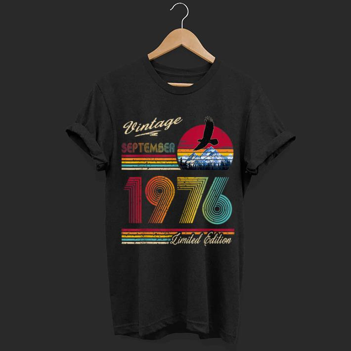 Hot Vintage September 1976 43th Birthday 43 Years Old Shirt 1 1.jpg