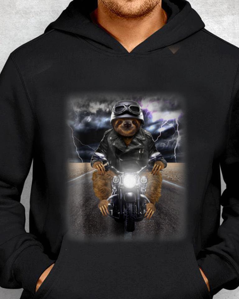 Nice Price Biker Sloth Cruising On Motorcycle In Highway Shirt 2 1.jpg