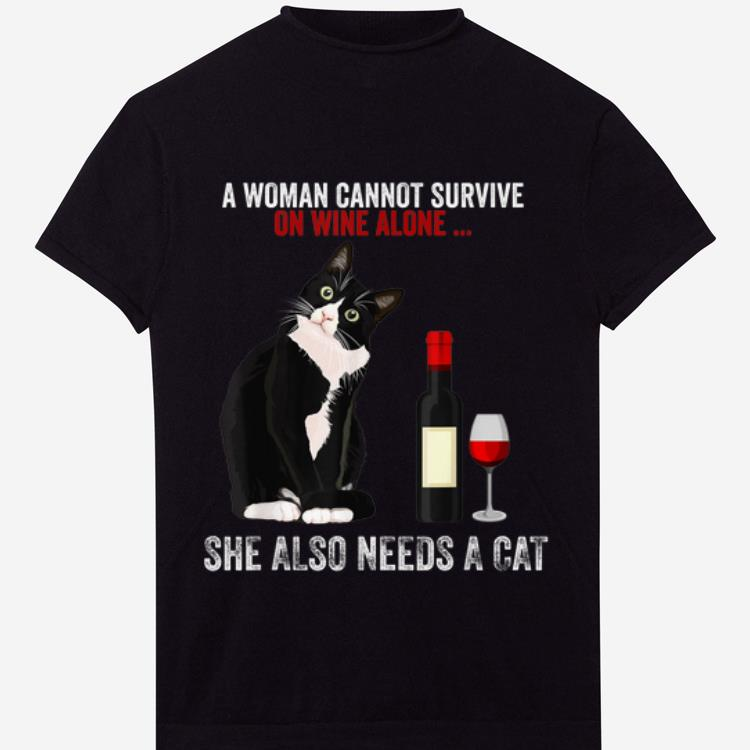 Official A Women Cannot Survive On Wine Alone She Also Need Cats Shirt 1 1.jpg