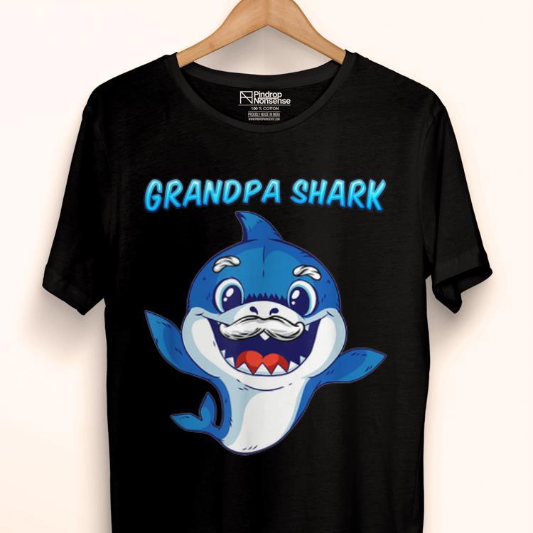 Official Grandpa Shark Daddy Shark Blue Shark Shirt 1 1.jpg