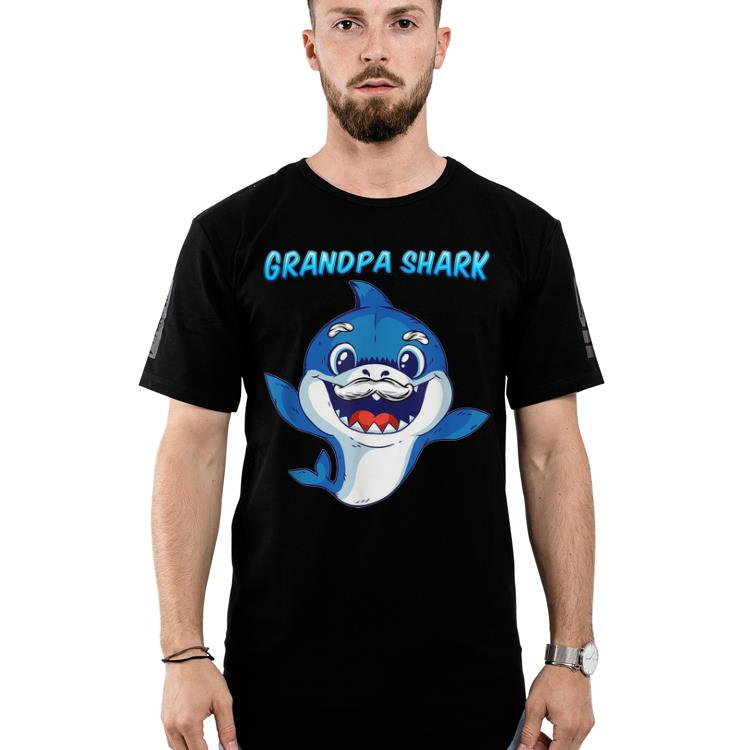 Official Grandpa Shark Daddy Shark Blue Shark Shirt 2 1.jpg